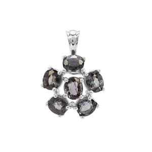 Mogok Silver Spinel Pendant in Sterling Silver 4.06cts