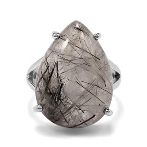 São Paulo Tourmalinated Quartz Ring in Sterling Silver 19cts