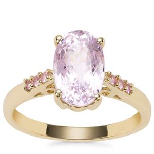 Kolum Kunzite Ring with Sakaraha Pink Sapphire in 9K Gold 3.37cts