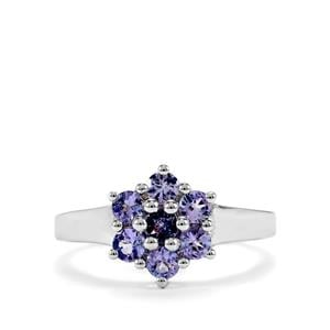 0.85ct Tanzanite Sterling Silver Ring
