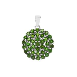 5ct Chrome Diopside Sterling Silver Pendant