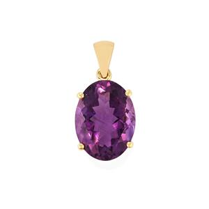 Bahia Amethyst Pendant in 9K Gold 7.82cts