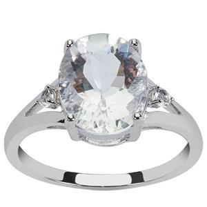 Itinga Petalite & White Topaz Sterling Silver Ring ATGW 2.89cts