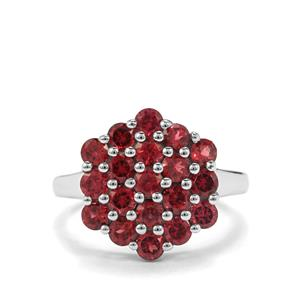 2.82ct Rhodolite Garnet Sterling Silver Ring