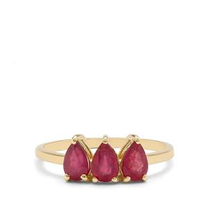 1.60cts Malagasy Ruby 9K Gold Ring (F)