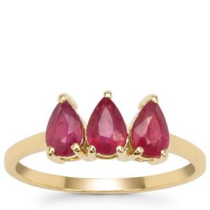Malagasy Ruby Ring  in 9K Gold 1.60cts