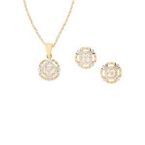 0.95ct Cuprian Sunstone Midas Set of Pendant Necklace & Earrings