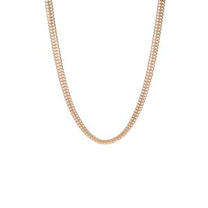 "18"" Gold Tone Sterling Silver Altro Double Curb Necklace 17.34g"