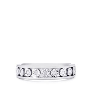 Diamond Ring  in Sterling Silver 0.12ct