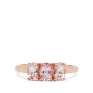 Cherry Blossom Morganite Ring in 9K Rose Gold 1.20cts