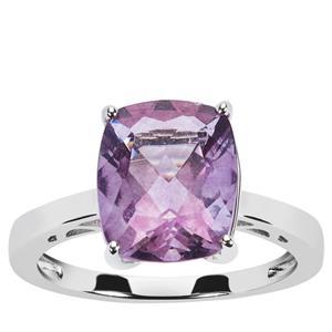Purple Fluorite Ring in Sterling Silver 4.53cts