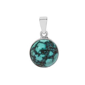 7.16ct Lhasa Turquoise Sterling Silver Aryonna Pendant