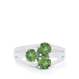 1.61ct Mandrare Green Apatite Sterling Silver Ring