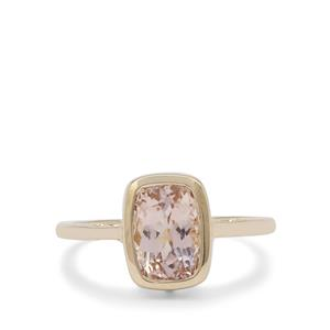 Peach Morganite Ring in 9K Gold 1.35cts