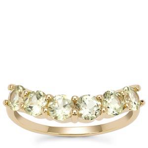 Mansanite™ Ring in 9K Gold 1.80ct