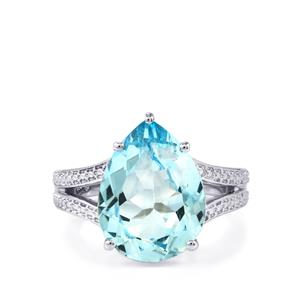 Sky Blue Topaz Ring in Sterling Silver 9.98cts