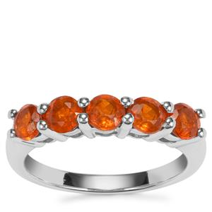 Loliondo Orange Kyanite Ring in Sterling Silver 1.76cts