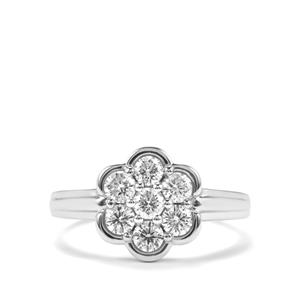 Diamond Ring in Platinum 950 0.76ct