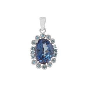 8.13ct Hope & Marambaia London Blue Topaz Sterling Silver Pendant