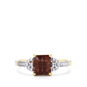 Bekily Colour Change Garnet & Diamond 18K Gold Tomas Rae Ring MTGW 2.22cts