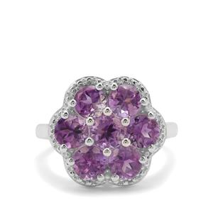 3.30ct Moroccan Amethyst Sterling Silver Ring