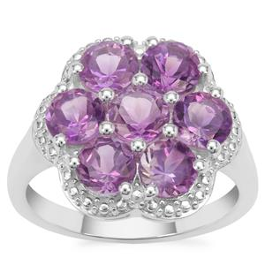 Moroccan Amethyst Ring in Sterling Silver 3.30cts