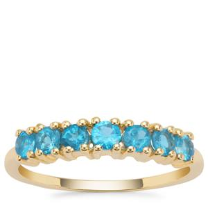Neon Apatite Ring in 9K Gold 0.85ct