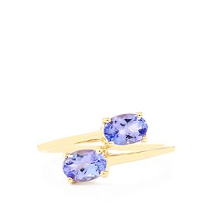 1.15ct AA Tanzanite 10K Gold Ring