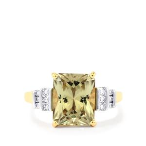 Csarite® Ring with Diamond in 18k Gold 4.06cts