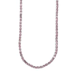 Sakaraha Pink Sapphire Necklace in Sterling Silver 22.30cts