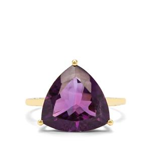 6.36ct Zambian Amethyst  9K Gold Ring