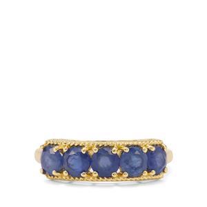 1.81ct Burmese Blue Sapphire 9K Gold Ring