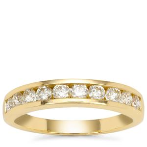 Yellow Diamond Ring in 18K Gold 0.81cts