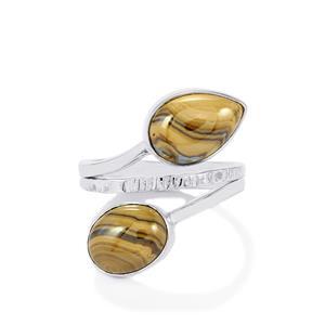 Schelm Blend Sphalerite Ring in Sterling Silver 9cts