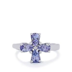1.55ct Tanzanite Sterling Silver Ring