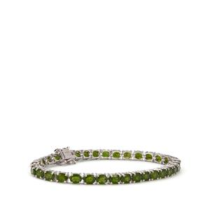 Chrome Diopside Bracelet in Sterling Silver 13cts