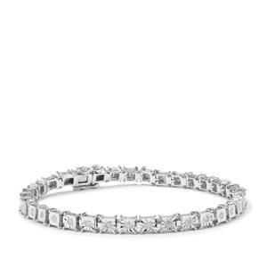 Diamond Halo Diamonds Bracelet in Sterling Silver 0.75ct
