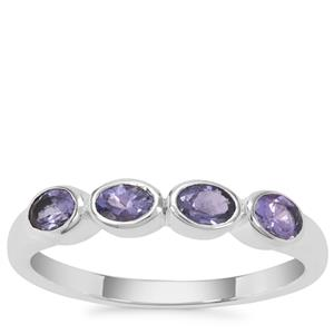 AA Tanzanite Ring in Sterling Silver 0.70ct