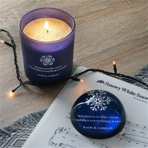 Candle with Paperweight Globe