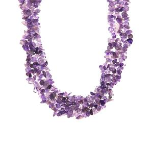 Zambian Amethyst Necklace in Sterling Silver 674.55cts