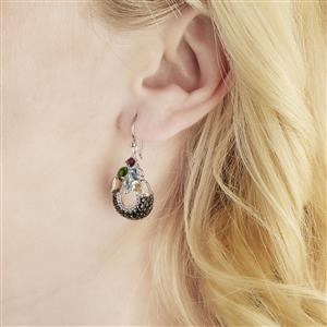 Exotic Gems Earrings in Sterling Silver 6.25cts