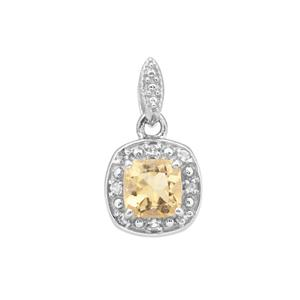 Diamantina Citrine Pendant with White Topaz in Sterling Silver 0.64ct