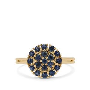 0.78ct Australian Blue Sapphire 9K Gold Ring