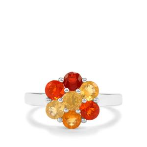 1.21ct Mexican Fire Opal Sterling Silver Ring