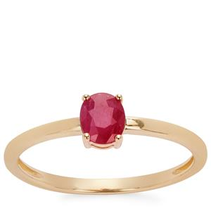 0.45ct Montepuez Ruby 9K Gold Ring