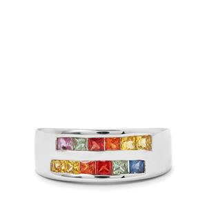 1.17ct Rainbow Sapphire Sterling Silver Ring