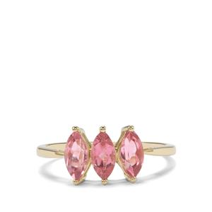 Pink Tourmaline Ring in 9K Gold 1.13cts