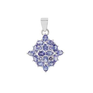 AA Tanzanite Pendant in Sterling Silver 2.76cts