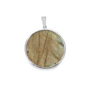 23.86ct Labradorite Sterling Silver Pendant