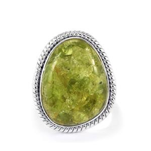 Mojave Peridot Ring in Sterling Silver 14.5cts